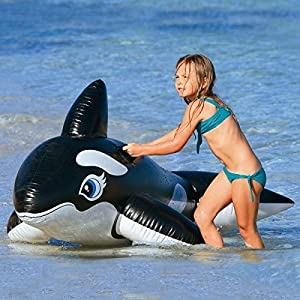 Intex Large Inflatable Whale Ride On Swimming Pool Beach Toy