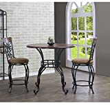 Ibiza Wood and Metal 3-Piece Contemporary Counter Set. These Dining Tables Are Sturdy & Stylish. On Sale Today! Dining Sets Such As These Are Often Used As Patio Sets Too, Or As Office Furniture For Your Break Room. This Dining Table Is a Good Buy.