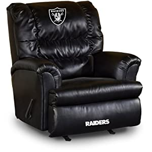 NFL Oakland Raiders Big Daddy Leather Recliner by Imperial