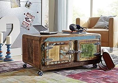Massivholz Eisen Massivmöbel lackiert Couchtisch 90x60 Altholz Eisen massiv Möbel Industrial-Stil Freezy #20