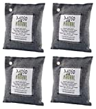 4 Pack Moso Natural 200 gm Air Purifying Bag Deodorizer. Odor Eliminator for Cars, Closets, Bathrooms and Pet Areas. Absorbs and Eliminates Odors. Charcoal Color