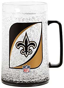 NFL New Orleans Saints 36-Ounce Crystal Freezer Monster Mug by Duck House