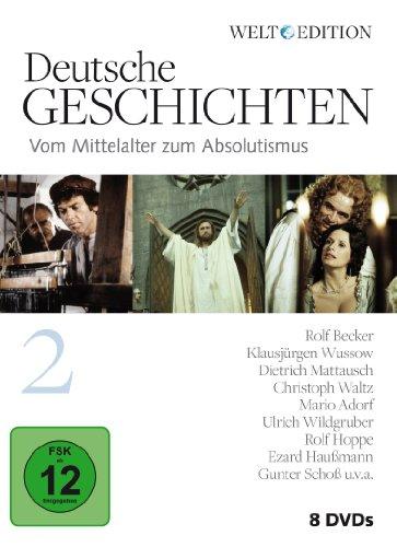 Deutsche Geschichten 2: Vom Mittelalter zum Absolutismus / WELT-Edition [8 DVDs]