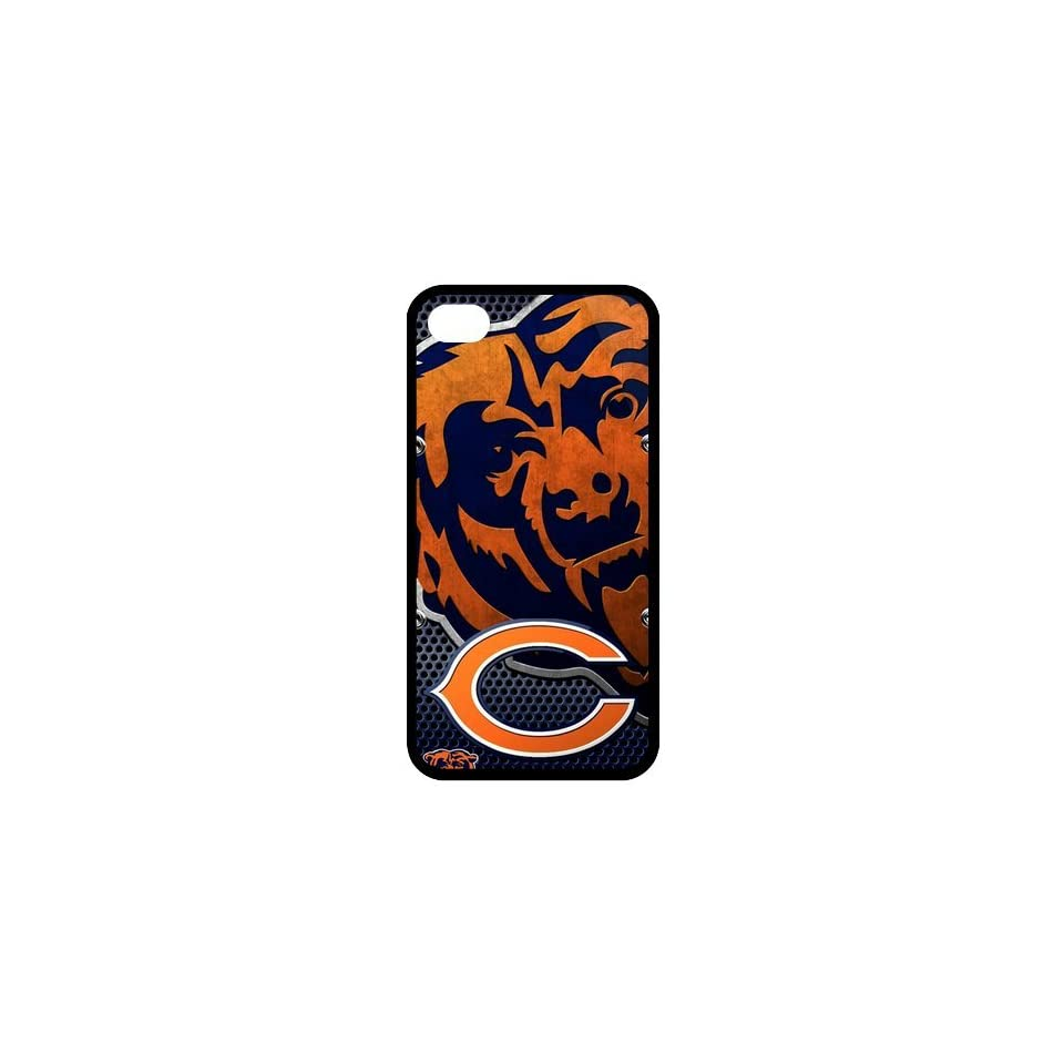 Christmas Gifts Custom Diy Design NFL Chicago Bears Slim Fit Iphone 4 4S TPU Silicone Back Case Cell Phones & Accessories