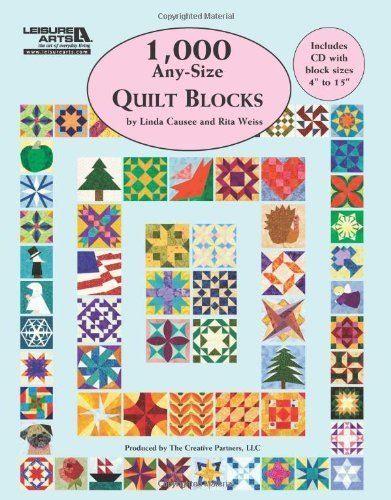 1,000 Any-Size Quilt Blocks by Linda Causee, Rita Weiss (2012) Paperback