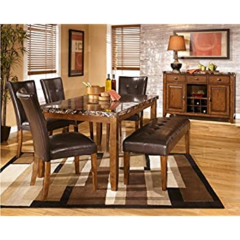 Ashley Furniture Signature Design - Lacey Dining Side Chair - Set of 2 - Medium Brown Finish