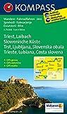 Triest - Laibach - Slowenische Küste: Wanderkarte mit Radrouten. GPS-genau. 1:75000 (KOMPASS-Wanderkarten)