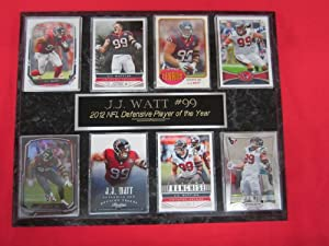 J.J. Watt Houston Texans 8 Card Collector Plaque by J & C Baseball Clubhouse