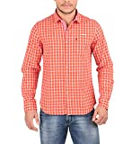 Oxemberg Men's Cotton Casual Shirt (MSL2107F_RUST_40)