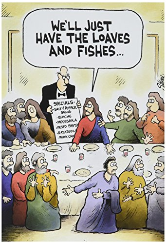 NobleWorks-0021-Loaves-Fishes-Funny-Easter-Unique-Greeting-Card-5-x-7