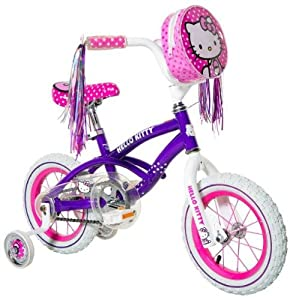Hello Kitty Girl's Bike, Purple, 12-Inch