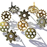 Eyelet Outlet Shape Brads, Gears, 12-Pack