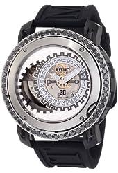 Ritmo Mundo Men's D202/9 SS BLK Diamond Persepolis Dual-Time Orbital Case Automatic Watch