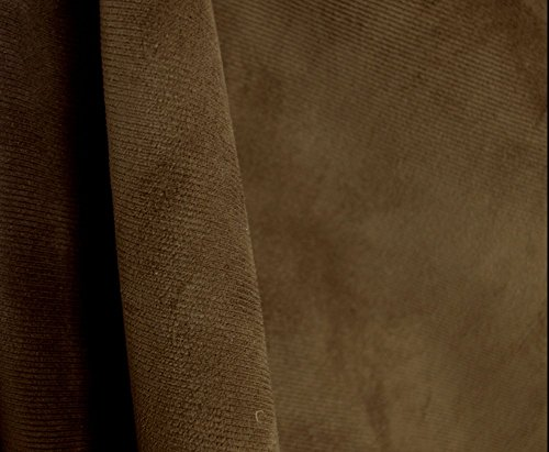 Satisfaction Chocolate Brown Corduroy Velvet Upholstery Fabric (Brown Corduroy Upholstery Fabric compare prices)