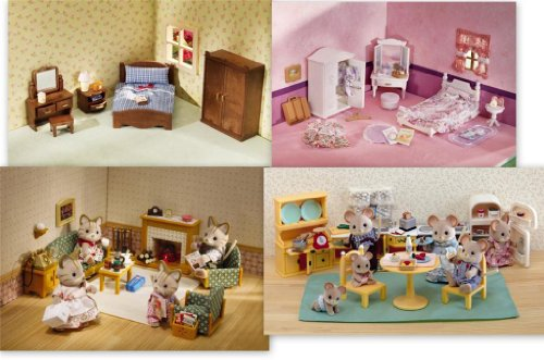 Etonnant Offer Calico Critters 4 Furniture Sets Lavender Master Bedroom Living Room  Kitchen