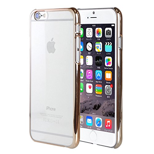 iPhone6s iPhone6 ケース カバー サイドカラード クリアケース ハードケース / ゴールド