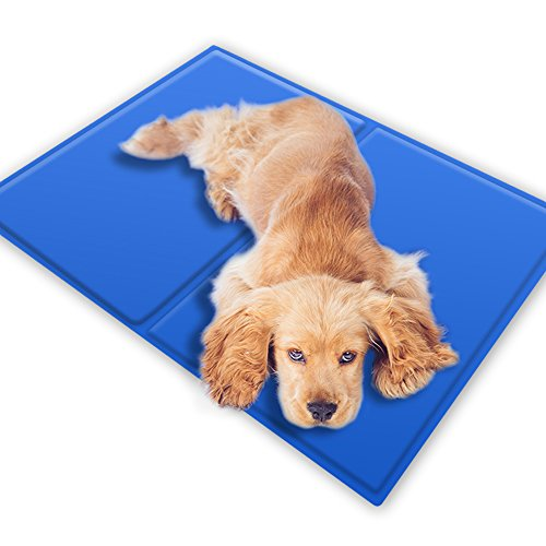 oneisall Dog Cat Self Cooling Gel Mat Pads,Soft Comfort Cool Beds for Dog Crates, Kennels and Beds