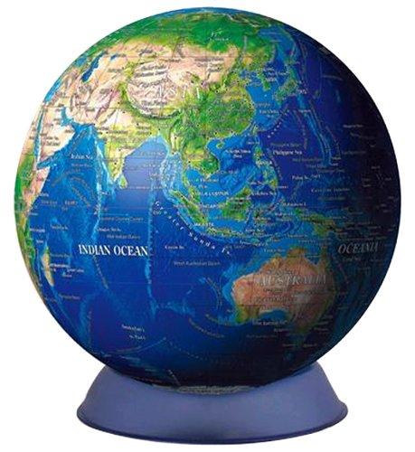240ピース ジグソーパズル 3Dキュウタイパズル ブルーアース -地球儀- (英語版) 光るパズル