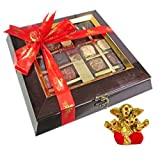 Chocholik Belgium Chocolate Gifts - Assortment Of Exotic Chocolates With Small Ganesha Idol - Diwali Gifts