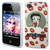 Reiko 3DPSC-IPHONE4-B11 Betty Boop 3D Premium Durable Designed Hard Protective Case for iPhone 4G/4S  - 1 Pack - Retail Packaging - White