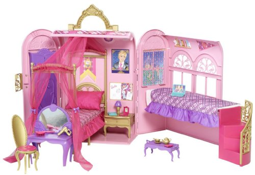 Barbie Princess Charm School Royal Bed and Bath Playset