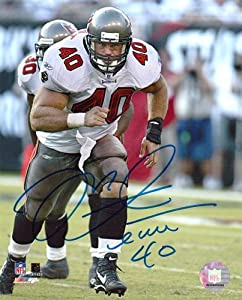 Mike Alstott Signed Tampa Bay Buccaneers 8x10 NFL Photo White Jersey - Autographed... by Sports Memorabilia