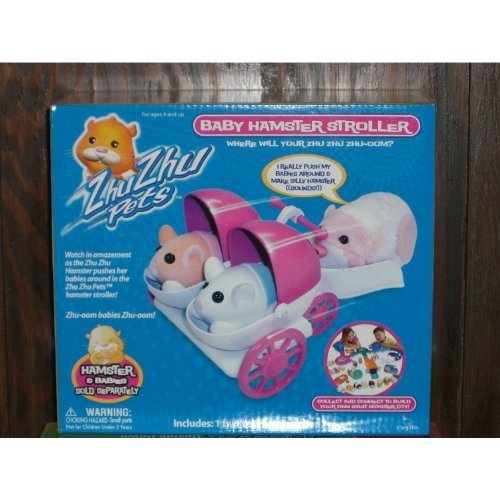 Zhu Zhu Pets - 1 Two Seater Baby Hamster Stroller - Hamster & Babies Sold Separately - 1