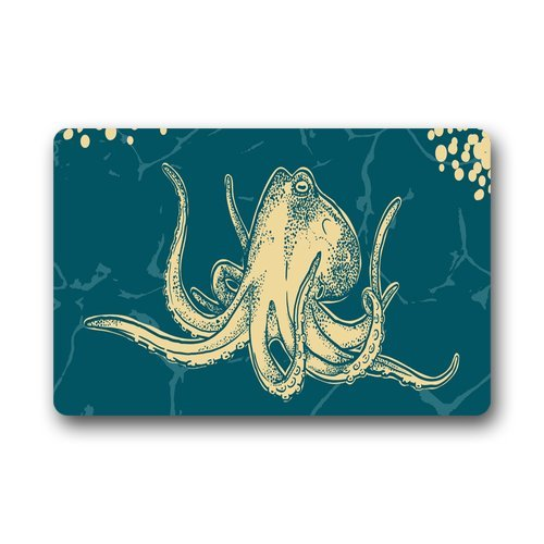"Anhome Beautiful Lovely Octopus Yelling To Sky Doormats 23.6""X 15.7"" front-880817"