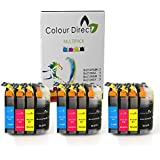 12 XL ColourDirect LC127XL / LC125XL Chipped Ink Cartridges for Brother DCP-J4110DW MFC-J4410DW MFC-J4510DW MFC-J4610DW MFC-J4710DW Printers