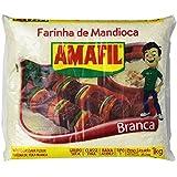 Amafil - Farinha de Mandioca Branca | White Cassava Flour - Harina De Yuca Blanca | PACK OF 2 - 35.2oz 1kg
