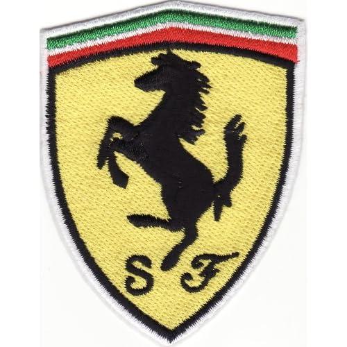 Logo aufnäher iron on patch quot ferrari