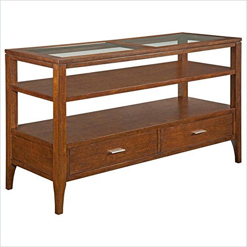 Affordable Broyhill Arland Sofa Table In Toasty Brown
