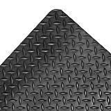 "NoTrax Vinyl 479 Cushion Trax Anti-Fatigue Mat, for Heavy-Traffic Dry Areas, 2' Width x 3' Length x 9/16"" Thickness, Black"