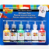 SCRIBBLES 18534 Dimensional Fabric Paint, Shiny, 6-Pack