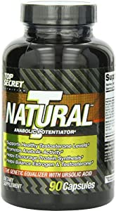Top Secret Nutrition Natural T - Test Booster Capsules, 90 Count
