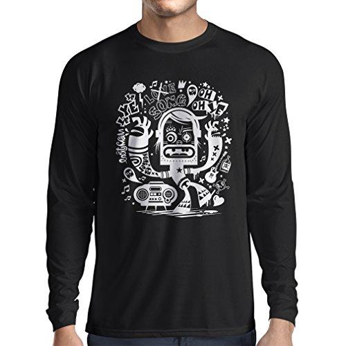 N4360L-Camiseta-de-manga-larga-bailarina-friki-X-Large-Negro-Multicolor