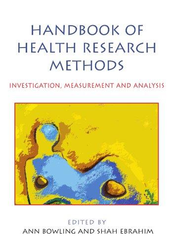 Handbook of Health Research Methods: Investigation,...