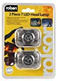 Rolson 61661 7 LED Head Lamp (2 Pieces)
