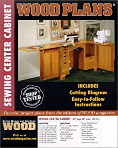 Wood Plans IFS-#1013  Sewing Center Cabinet