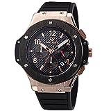 VOEONS 腕時計 アナログ表示 シリコンバンド クロノグラフ機能付き 3002G ゴールド メンズ [並行輸入品]