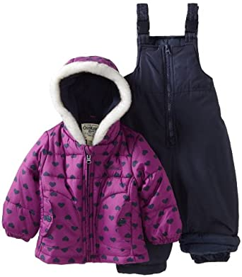 Osh Kosh Baby-Girls Infant 2 Piece Snowsuit, Purple, 24 Months