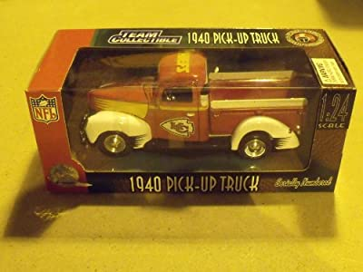 Kansas City Chiefs 1940 Pick-up Truck 1:24 Scale Die-cast Collectible
