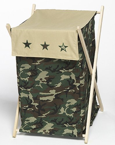 JoJo Designs Baby and Kids Clothes Laundry Hamper - Green Camo Army Military Camouflage