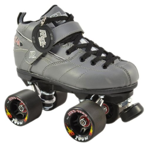 Rock GT50 Green Zoom Grey Quad Speed Roller Skates roller skates white with green led lighting wheels double line skates adult 4 wheels two line roller skating shoes patines