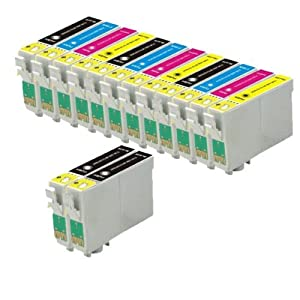 14 Compatible Printer ink Cartridges (3 Sets of 4 + 2 Black) For Epson Stylus D7