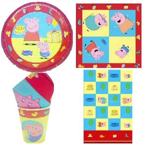 Peppa Pig Discounted Party Tableware pack for