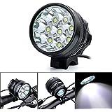 Kingtop 12000 Lumens 8x CREE XM-L T6 LED Phare Lampe Frontale pour Vélo VTT Bicyclette Cyclisme avec Rechargeable Batterie