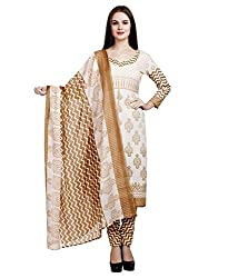 Janasya Women's Polyester Dress Material (DR-021-Printed.A_Multi-Coloured)