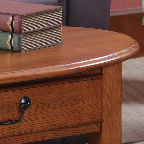 Leick Oval Coffee Table, Medium Oak
