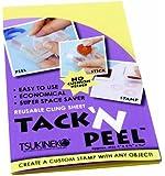Tsukineko 1-Piece Tack 'N Peel Reusable Double-Sided Stick Sheet